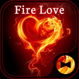 Stylish Wallpaper Fire Love Theme