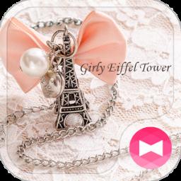 Cute Theme-Girly Eiffel Tower-