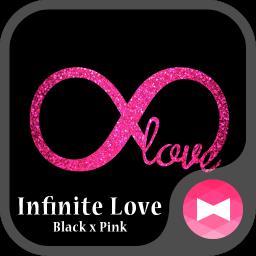 Glitter Wallpaper Infinite Love Black x Pink Theme