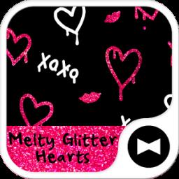 Melty Glitter Hearts  Theme