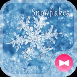 Winter Wallpaper Snowflakes Theme