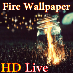 پس زمینه زنده آتش HD Fire