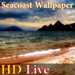 پس زمینه زنده ساحل دریا HD Seacoast