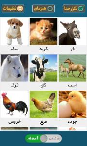اسکرین شات بازی صدای حیوانات ( آموزش کودکان ) 1