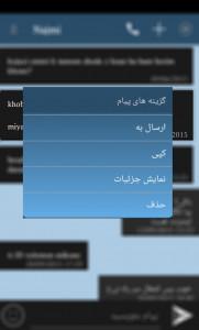 اسکرین شات برنامه پیامرسان و ضد تبلیغ اس ام اس اسپم 9