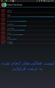 اسکرین شات برنامه مدیریت زمان فدورا 7