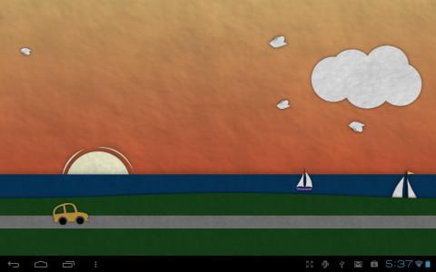 اسکرین شات برنامه Paperland Live Wallpaper 3