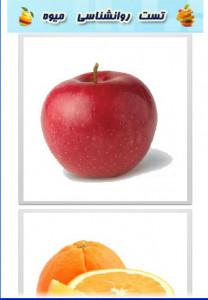 اسکرین شات برنامه تست روانشناسی با میوه 2