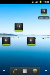 اسکرین شات برنامه Data Enabler Widget 1