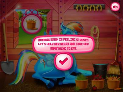 اسکرین شات بازی Princess rainbow Pony game 1