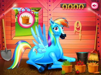 اسکرین شات بازی Princess rainbow Pony game 2