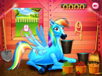 اسکرین شات بازی Princess rainbow Pony game 8