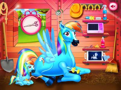 اسکرین شات بازی Princess rainbow Pony game 5