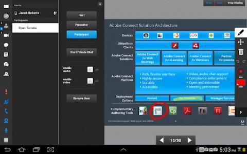اسکرین شات برنامه adobe connect (ادوب کانکت) 8