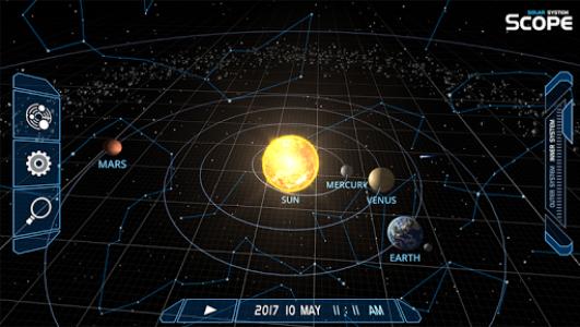 اسکرین شات برنامه Solar System Scope 1