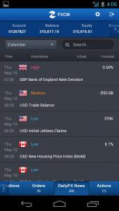 اسکرین شات برنامه FXCM Trading Station Mobile 7