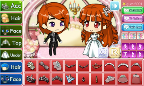 اسکرین شات بازی Wedding Pretty Girl : dress up game 1