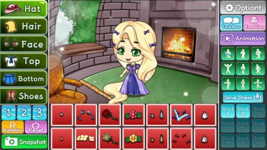 اسکرین شات بازی Pretty Girl's Tangled Style : dress up game 1