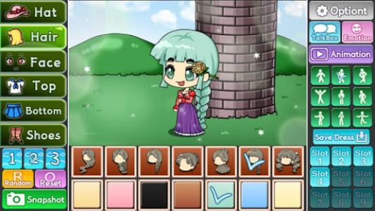 اسکرین شات بازی Pretty Girl's Tangled Style : dress up game 2
