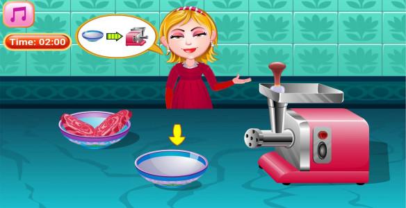اسکرین شات بازی آشپزی تهیه چیزبرگر 4