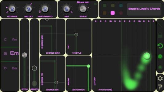 اسکرین شات برنامه QiBrd: Free Virtual Analog Synthesizer 5