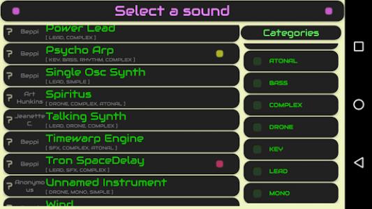 اسکرین شات برنامه QiBrd: Free Virtual Analog Synthesizer 4
