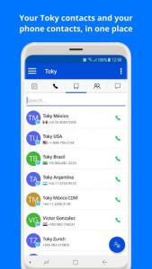 اسکرین شات برنامه Toky: business phone system 7