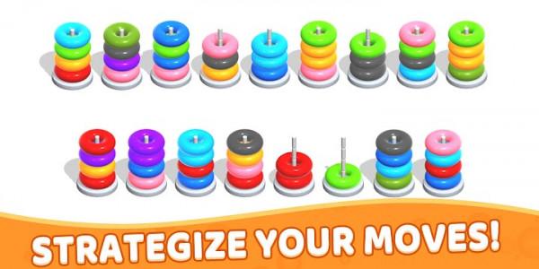 اسکرین شات بازی Color Hoop Stack - Sort Puzzle 6