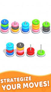اسکرین شات بازی Color Hoop Stack - Sort Puzzle 2