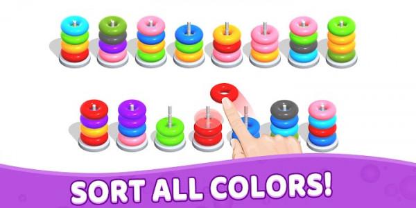 اسکرین شات بازی Color Hoop Stack - Sort Puzzle 5