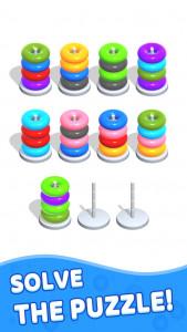 اسکرین شات بازی Color Hoop Stack - Sort Puzzle 3