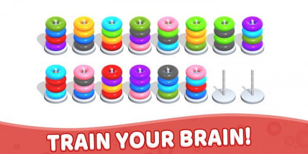 اسکرین شات بازی Color Hoop Stack - Sort Puzzle 8