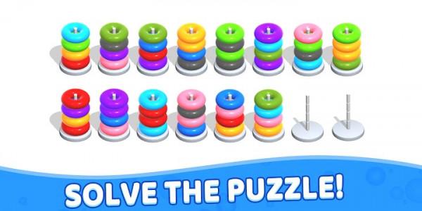 اسکرین شات بازی Color Hoop Stack - Sort Puzzle 7
