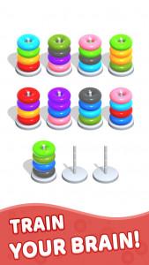 اسکرین شات بازی Color Hoop Stack - Sort Puzzle 4