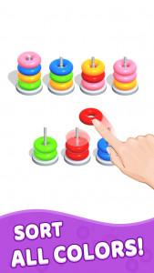 اسکرین شات بازی Color Hoop Stack - Sort Puzzle 1