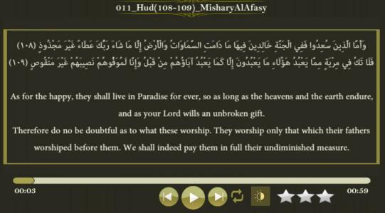 اسکرین شات برنامه زیباترین تلاوت های قرآنی 4