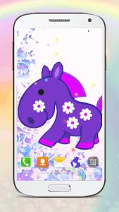 اسکرین شات برنامه Cute Pony Live Wallpapers 7