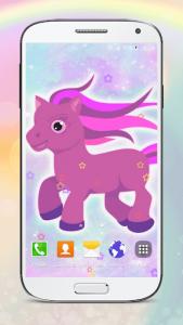 اسکرین شات برنامه Cute Pony Live Wallpapers 2