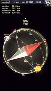 اسکرین شات برنامه Sun & Moon Tracker 3