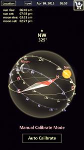 اسکرین شات برنامه Sun & Moon Tracker 1