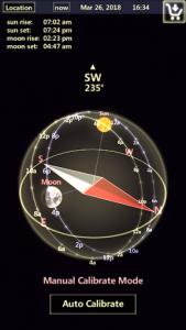 اسکرین شات برنامه Sun & Moon Tracker 4