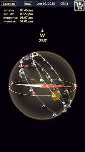اسکرین شات برنامه Sun & Moon Tracker 5