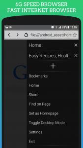 اسکرین شات برنامه Uc 4G Browser Mini: Turbo & Fast - Speed Internet 1