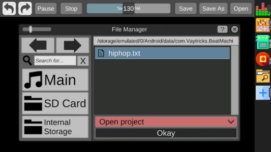 اسکرین شات برنامه Beat Machine - Audio Sequencer 4