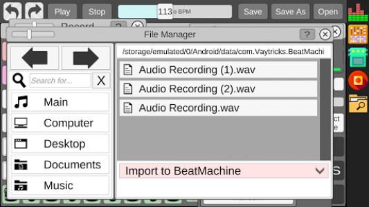 اسکرین شات برنامه Beat Machine - Audio Sequencer 8