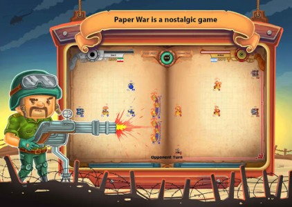 اسکرین شات بازی جنگ کاغذی : آنلاین دو نفره 4