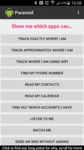 اسکرین شات برنامه Paranoid for Android 1