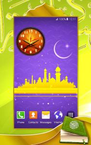 اسکرین شات برنامه Quran Analog Clock 5