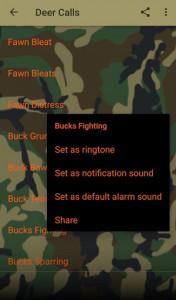اسکرین شات برنامه Deer Hunting Calls Soundboard 6
