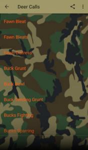 اسکرین شات برنامه Deer Hunting Calls Soundboard 5